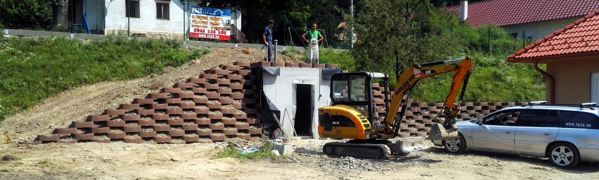 Realizácia oporných múrov